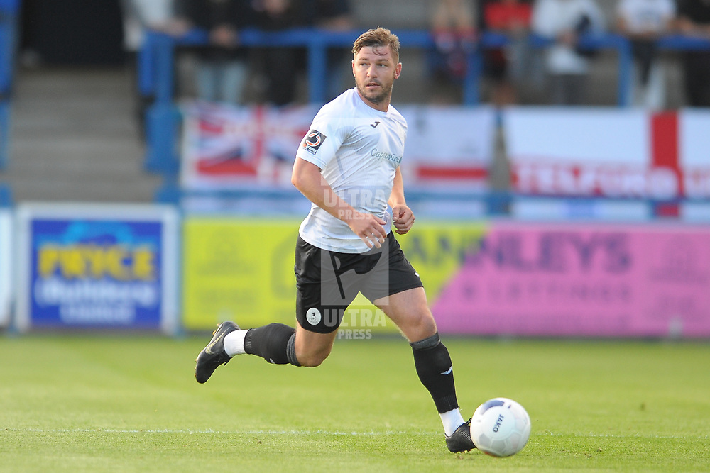 TELFORD COPYRIGHT MIKE SHERIDAN Steph Morley during the National League North fixture between AFC Telford United and Kidderminster Harriers on Tuesday, August 6, 2019.<br /> <br /> Picture credit: Mike Sheridan<br /> <br /> MS201920-006