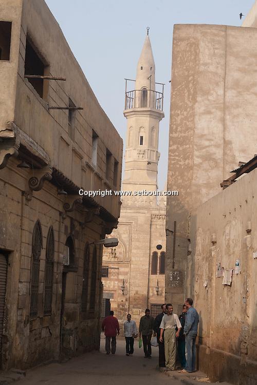 Egypt . Cairo : Madrassa AL AYNI,  in  Al Azhar mosque area .  islamic Cairo     NM102