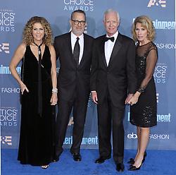 Rita Wilson, Tom Hanks, Lorrie Sullenberger, Chesley Sullenberger, The 22nd Annual Critics Choice Awards at Barker Hangar (Santa Monica, CA.)