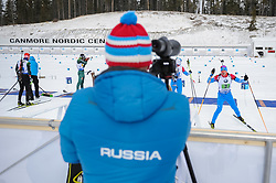 February 8, 2019 - Calgary, Alberta, Canada - Latypov Eduard (Russia) warms up before start of Men's Relay of 7 BMW IBU World Cup Biathlon 2018-2019. Canmore, Canada, 08.02.2019 (Credit Image: © Russian Look via ZUMA Wire)