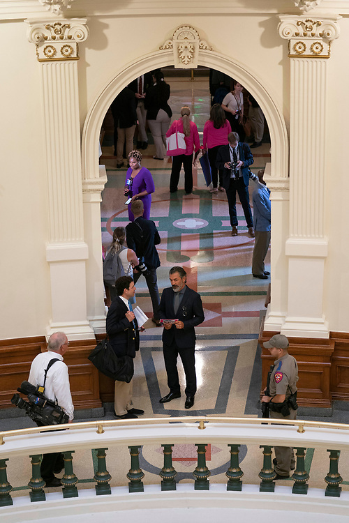 House members, press and lobbyists in the hallway outside the House Chamber during the special session called July 8, 2021.