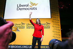 © Licensed to London News Pictures. 22/07/2019. London, UK. JO SWINSON waves after been elected as the leader of the Liberal Democrats. JO SWINSON, MP for East Dunbartonshire, won the leadership election receiving 47,997 votes. Photo credit: Dinendra Haria/LNP