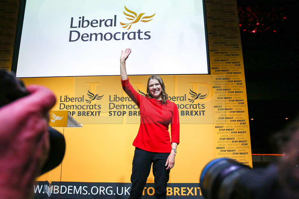 © Licensed to London News Pictures. 22/07/2019. London, UK. JO SWINSON waves after been elected as the leader of the Liberal Democrats. JO SWINSON, MP for East Dunbartonshire,won the leadership election receiving47,997 votes. Photo credit: Dinendra Haria/LNP