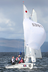 Peelport Clydeport, Largs Regatta Week 2014 Largs Sailing Club based at  Largs Yacht Haven with support from the Scottish Sailing Institute & Cumbrae.<br /> <br /> Slow Handicap, 420, 53157, Rachel Mawer, Rebecca Coles