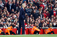 Arsenal Manager Arsene Wenger watches on. Premier league match, Arsenal v Swansea city at the Emirates Stadium in London on Saturday 28th October 2017.<br /> pic by Steffan Bowen, Andrew Orchard sports photography.