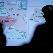 A map of Ukraine is seen during a House Intelligence Committee hearing for testimony from George Kent, the deputy assistant secretary of State for European and Eurasian Affairs and William Taylor, U.S. chargé d'affaires for Ukraine, to discuss the impeachment inquiry into President Trump on Wednesday, November 13, 2019.