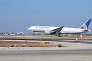 Israel, Ben-Gurion international Airport Continental Airlines Boeing landing