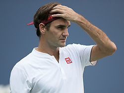 September 1, 2018 - Flushing Meadows, New York, U.S - Roger Federer during his match against Nick Kyrgios on Day 6 of the 2018 US Open at USTA Billie Jean King National Tennis Center on Saturday September 1, 2018 in the Flushing neighborhood of the Queens borough of New York City. Federer defeats Kyrgios 6-4, 6-1, 7-5. (Credit Image: © Prensa Internacional via ZUMA Wire)