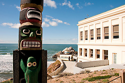 Totem Pole, Cliff House, near Golden Gate Park, San Francisco, California, USA.  Photo copyright Lee Foster.  Photo # california108818