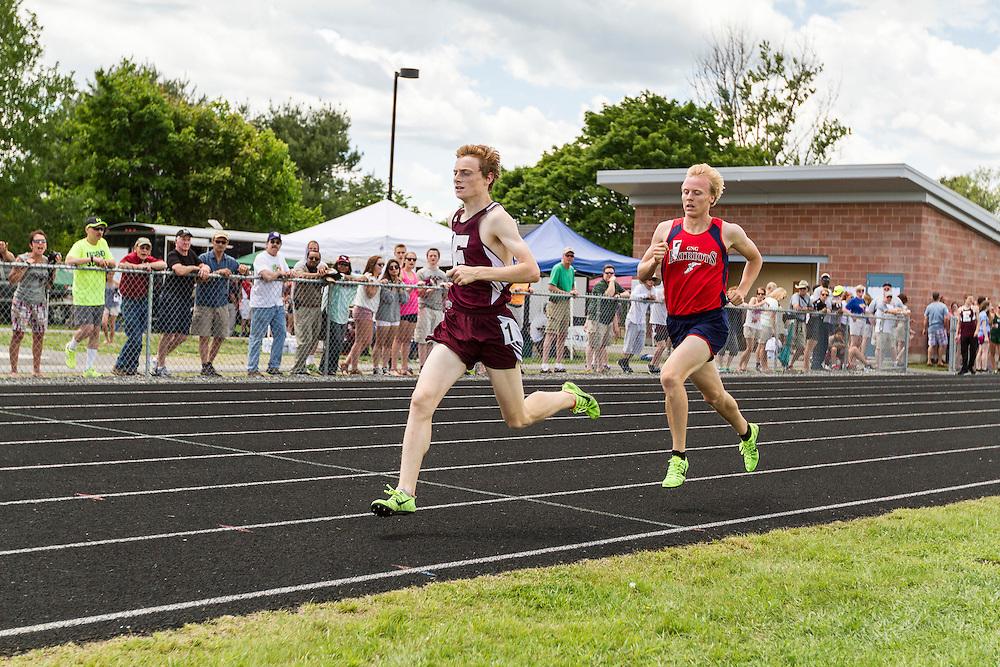 Maine State Track & Field Meet, Class B: boys 1600 meters, Dan Curts, Ellsworth, 4:09.88, Will Shafer, New Gloucester