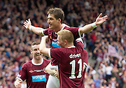 The William Hill Scottish FA Cup Final 2012 Hibernian Football Club v Heart Of Midlothian Football Club..19-05-12...Hearts Rudi Skacel celebrates scoring goal number 5 to make it 5-1  with Andy Driver     during the William Hill Scottish FA Cup Final 2012 between (SPL) Scottish Premier League clubs Hibernian FC and Heart Of Midlothian FC. It's the first all Edinburgh Final since 1986 which Hearts won 3-1. Hearts bid to win the trophy since their last victory in 2006, and Hibs aim to win the Scottish Cup for the first time since 1902....At The Scottish National Stadium, Hampden Park, Glasgow...Picture Mark Davison/ ProLens PhotoAgency/ PLPA.Saturday 19th May 2012.