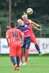 Dominika Conc of ZNK Pomurje during the UEFA Women's Champions League Qualifying Match between ZNK Teleing Pomurje (SLO) and Olimpia Cluj (ROU) at Sportni Park on August 16, 2015 in Beltinci, Slovenia. Photo by Mario Horvat / Sportida
