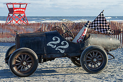 Bobby Green's #22 Overland Whippet at the Race of Gentlemen. Wildwood, NJ, USA. October 10, 2015.  Photography ©2015 Michael Lichter.