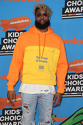 INGLEWOOD, CA - MARCH 24: Mel B. attends Nickelodeon's 2018 Kids' Choice Awards at The Forum on March 24, 2018 in Inglewood, California. Credit: Faye Sadou / MediaPunch. 24 Mar 2018 Pictured: Odell Beckham. Photo credit: FS/MPI/Capital Pictures / MEGA TheMegaAgency.com +1 888 505 6342