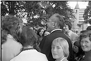 Funeral of Eamon DeValera.   (J72)..1975..02.09.1975..09.02.1975..2nd September 1975..Today saw the funeral of Eamon DeValera. He was laid to rest beside his wife Sinead in Glasnevin Cemetery,Dublin. Dignitries from all around the world attended at the funeral.