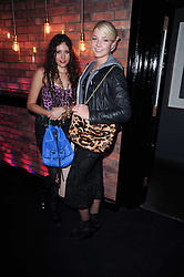 Left to right, ELIZA DOOLITTLE and LADY CLARA PAGET at the Mulberry Event at Morton's Berkeley Square, London on 3rd November 2010.
