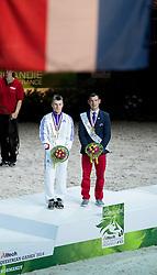 Jacques Ferrari, (FRA), Francois Athimon - Individuals Men Final Vaulting - Alltech FEI World Equestrian Games™ 2014 - Normandy, France.<br /> © Hippo Foto Team - Becky Stroud<br /> 05/09/2014