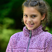 """YARMOUTH Maine -- SEPT 8, 2019 -- <br /> Lexi, 10. in """"Girl with a pearl"""" stance<br /> Professional Portrait Photo by Roger S. Duncan  207-443-9665 <br /> http://www.rogerduncanphoto.com"""