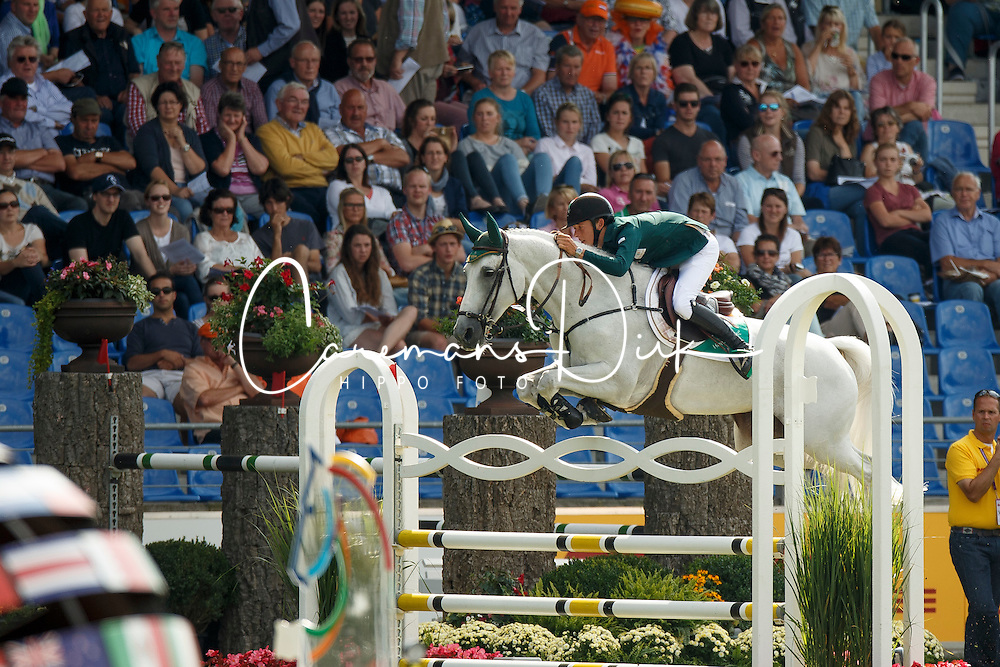 Allen Bertram, (IRL), Molly Malone V<br /> Team completion and 2nd individual qualifier<br /> FEI European Championships - Aachen 2015<br /> © Hippo Foto - Dirk Caremans<br /> 20/08/15