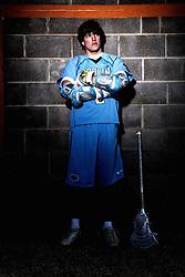 19 January 2009: North Carolina Tar Heel men's lacrosse attackman Billy Bitter (4) on Finley Fields in Chapel Hill, NC.
