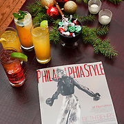 Philadelphia Style Magazine Holiday issue cover featuring actress Beth Behrs is displayed during Philadelphia Style Magazines's Holiday Party  (Photo by Lisa Lake/Getty Images for Philadelphia Style Magazine)