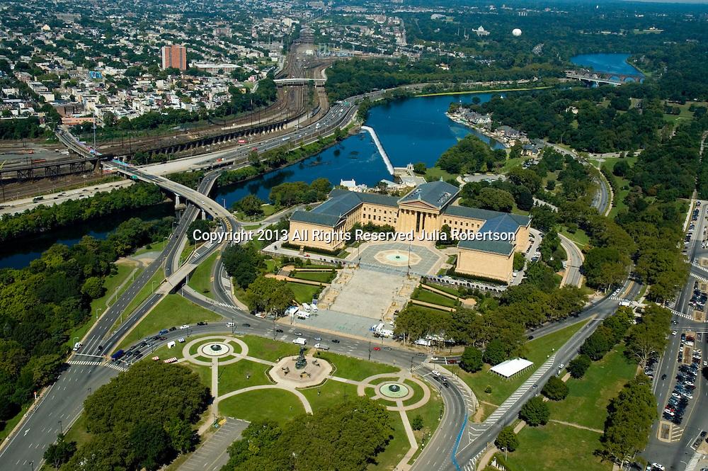 Aerial view of Philadelphia Museum of Art Pennsylvania