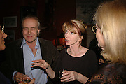 GERALD SCARFE AND JANE ASHER, Sir Peter Blake and Poppy De Villeneuve host a party with University of the Arts London at the Arts Club, Dover Street, London. 20 APRIL 2006<br />ONE TIME USE ONLY - DO NOT ARCHIVE  © Copyright Photograph by Dafydd Jones 66 Stockwell Park Rd. London SW9 0DA Tel 020 7733 0108 www.dafjones.com