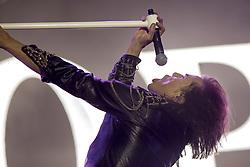 July 2, 2017 - Santa Coloma, Catalonia, Spain - Joey Tempest of Swedish rock band Europe during his performance at Rock Fest Barcelona 2017 Festival in Santa Coloma, Spain on July 02, 2017  (Credit Image: © Miquel Llop/NurPhoto via ZUMA Press)