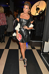 ZOE HARDMAN at a party to celebrate the 1st anniversary of Hello! Fashion Monthly magazine held at Charlie, 15 Berkeley Street, London on 14th October 2015.