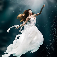 Underwater Fashion Photoshoot with The Infinitee Agency for Gables Residential.