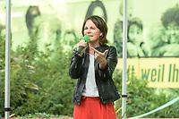 10 SEP 2021, TELTOW/GERMANY:<br /> Annalena Baerbock, MdB, B90/Gruene, Bundesvorsitzende und Spitzenkandidatin, waehrend einer Wahlkampfveranstaltung, August-Mattausch-Park<br /> IMAGE: 20210910-01-028<br /> KEYWORDS: Bundestagswahl, Election Campain, Rede, speech