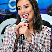 KING OF PRUSSIA - AUGUST 19: Cast member of the FOX TV show Glee Lea Michele answers questions during Q & A with fans on August 19, 2009 at King of Prussia Mall, King of Prussia, Pennsylvania.  (Photo by Lisa Lake/Getty Images for Fox)