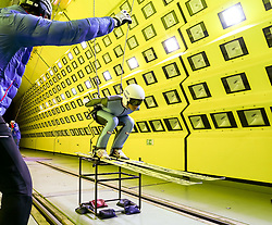 24.07.2015, Klima Wind Kanal, Wien, AUT, OESV, Skisprung, Training im Wind Kanal , im Bild Heinz Kuttin (Trainer), Manuel Poppinger// during a trainingssession of the Austrian ski jumping team in the Climatic Wind Tunnel, Vienna, Austria on 2014/07/24. EXPA Pictures © 2015, PhotoCredit: EXPA/ Sebastian Pucher