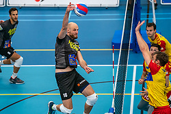 Jasper Diefenbach #16 of Orion in action in the supercup semifinal between Draisma Dynamo – Active Living Orion on October, 03 2020 in Van der Knaaphal, Ede