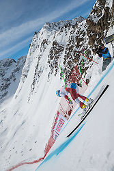 09.02.2017, St. Moritz, SUI, FIS Weltmeisterschaften Ski Alpin, St. Moritz 2017, Abfahrt, Herren, Training, im Bild Patrick Kueng (SUI) am free fall Start // Patrick Kueng of Switzerland at the free fall in action during the practice run of men's Downhill of the FIS Ski World Championships 2017. St. Moritz, Switzerland on 2017/02/09. EXPA Pictures © 2017, PhotoCredit: EXPA/ Alessandro Della Bella/ POOL