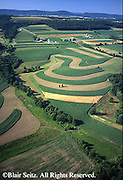 PA Landscapes, Southcentral Pennsylvania, Aerial Photographs, Farmlands, Cultivation and Contour Farming, Dauphin Co., PA