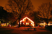 An image from the series Season's Greetings, documenting Christmas in my native North Carolina.<br /> <br /> A house on Hillsborough St. in Carrboro, North Carolina.