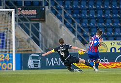 Inverness Caledonian Thistle's Daniel MacKay scoring their goal. Falkirk 3 v 1 Inverness Caledonian Thistle, Scottish Championship game played 27/1/2018 at The Falkirk Stadium.