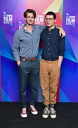 Andrew Garfield and Simon Amstell and attending the Benjamin Premiere as part of the BFI London Film Festival at BFI in London.