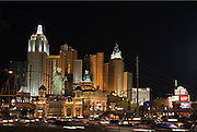 Center of the Strip in Las Vegas at nighttime.