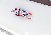 NAGANO, JAPAN - FEBRUARY 1998:  Markus Prock #4 of Austria competes in the Men's Singles Luge event of the 1998 Winter Olympics at the Spiral bobsled and luge track near Nagano, Japan.  Prock was fourth in the event.  (Photo by David Madison/Getty Images)