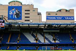 A thank you banner to John Terry of Chelsea ahead of his final match before retirement - Rogan Thomson/JMP - 21/05/2017 - FOOTBALL - Stamford Bridge - London, England - Chelsea v Sunderland - Premier League..