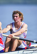 Barcelona, SPAIN. Gold Medalist, GBR M2+, Bow Jonny SEARLE. 1992 Olympic Rowing Regatta Lake Banyoles, Catalonia [Mandatory Credit Peter Spurrier/ Intersport Images] Last time Men's coxed pair raced at the Olympics,