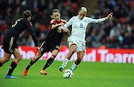 Lianne Sanderson of England Women is challenged by Lena Goessling of Germany Women<br /> - Womens International Football - England vs Germany - Wembley Stadium - London, England - 23rdNovember 2014  - Picture Robin Parker/Sportimage