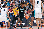 THOUSAND OAKS, CA Sunday, August 12, 2018 - Nike Basketball Academy. Jaden McDaniels 2019 #14 of Federal Way HS handles the ball. <br /> NOTE TO USER: Mandatory Copyright Notice: Photo by John Lopez / Nike