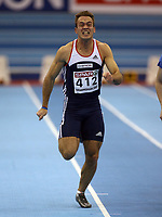 Photo: Rich Eaton.<br /> <br /> EAA European Athletics Indoor Championships, Birmingham 2007. 03/03/2007.Martin Rypdal of Norway competes in the mens 60m