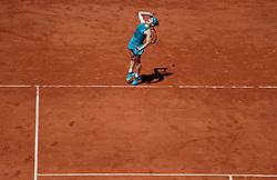 June 7, 2018 - Paris, France - SIMONA HALEP of Romania plays against Garbine Muguruza of Venezuela during their semi final match of the French Tennis Open 2018 at Roland Garros.  Halep won 6-1, 6-4. (Credit Image: © Maya Vidon-White via ZUMA Wire)