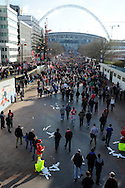 scenes around the stadium before the match, Carling cup final,  Cardiff city v Liverpool at Wembley Stadium in London, England on Sunday 26th Feb 2012.  pic by Andrew Orchard, Andrew Orchard sports photography,