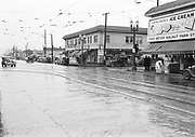 0001-A223 NE MLK Portland Oregon. East side of NE Union (now MLK Ave.) looking north, corner of Killingsworth. Fred Meyer store on right. Walnut Park 5 and 10 cents store is 5504 NE Union. Ca.1939