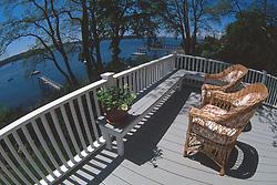 Scheer Deck, Castine, Maine, US